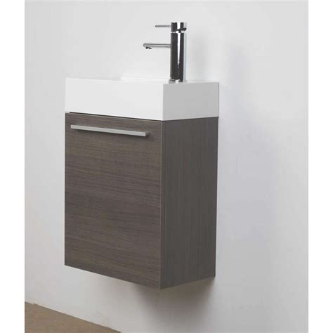 bathroom vanity set 18 quot grey oak free shipping tn t460 go