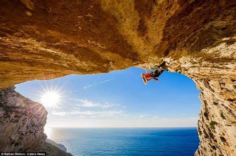 Rock Climber Rannveig Aamodt Leans Back Off Stunning