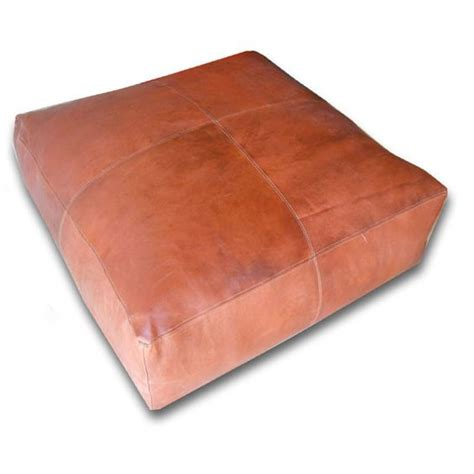square leather pouf ottoman poufs moroccan pouf and leather pouf on pinterest