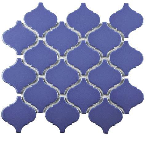 merola tile metro lantern glossy blue 9 3 4 in x 10 1 4
