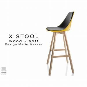 Tabouret De Bar Pied Bois : tabouret de bar design x stool wood soft 75 pied bois ~ Melissatoandfro.com Idées de Décoration