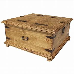 trunk coffee table http wwwlafuentecom mexican With pine coffee table with storage