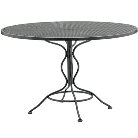 woodard 48 inch mesh top umbrella table 190137
