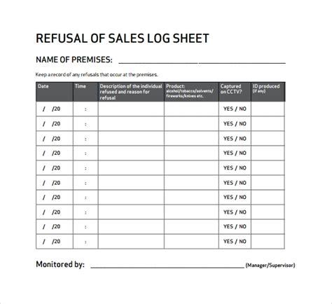 sample sales log template   documents   excel