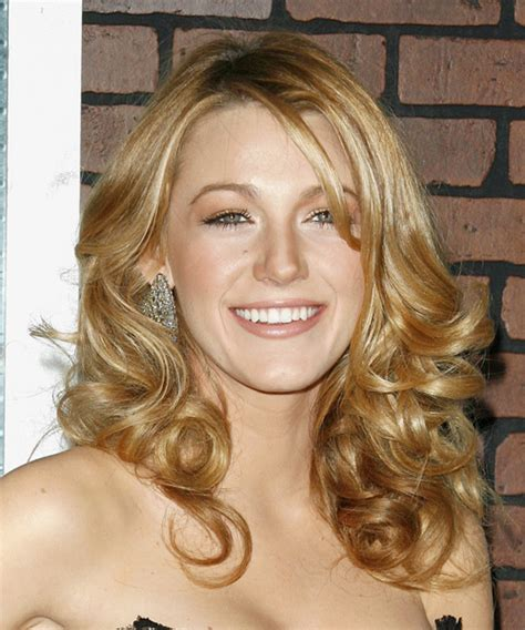 blake lively formal long wavy hairstyle