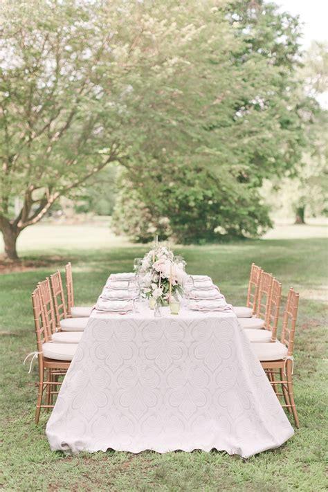 outdoor wedding reception romantic spring wedding