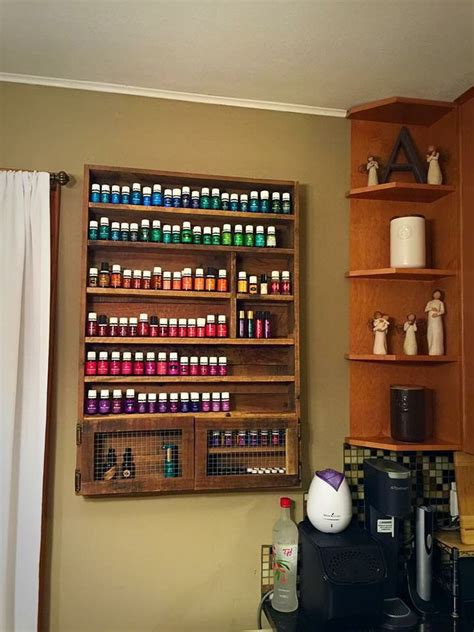 essential oils storage shelf  cabinet shelves nice