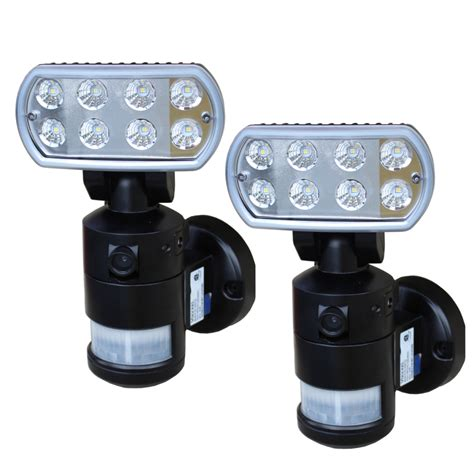 led security light with camera versonel nightwatcher led security motion tracking light