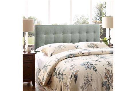 Upholstering A Headboard With Fabric emily upholstered fabric headboard in grey by modway