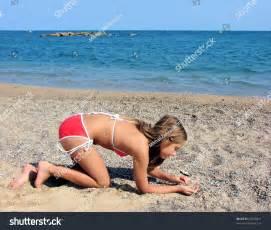 Young Teen Girl Beach