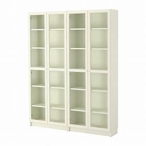 BILLY / OXBERG Bookcase - white/glass - IKEA