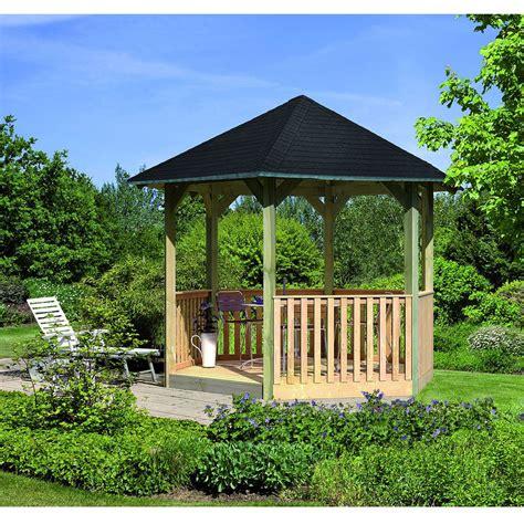 karibu gloriette de jardin en bois madrid avec plancher et