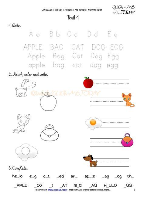 Free Printable Beginner Esl Prejunior Worksheet 1 Alphabet