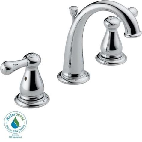 Delta Leland Kitchen Faucet Home Depot by Delta Leland 8 In Widespread 2 Handle High Arc Bathroom