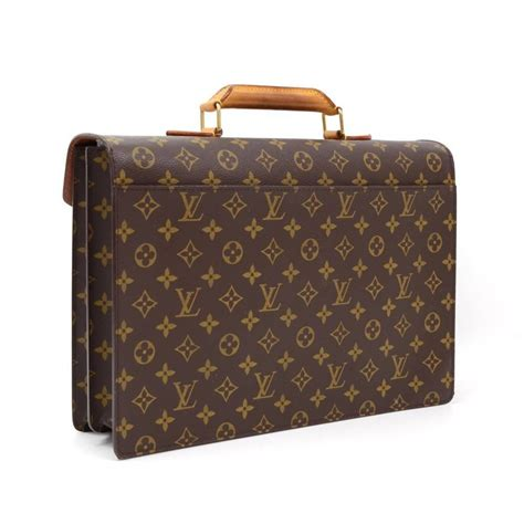 louis vuitton vintage rare monogram canvas mens briefcase