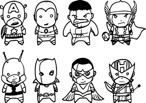 avenger chibs assemble coloring page wecoloringpage