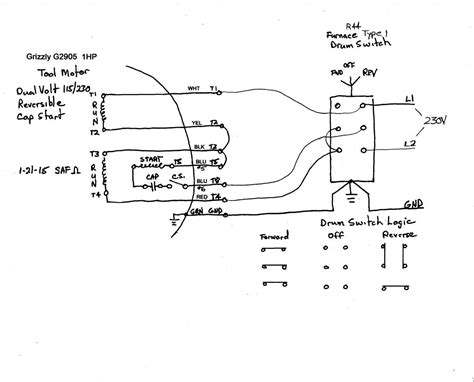 wiring diagram for single phase lathe motor radio wiring
