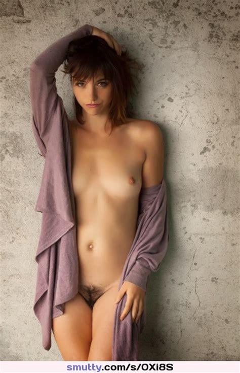 Openshirt Almostnude Brunette Beautiful Seductive