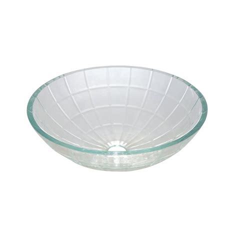clear glass vessel sinks shop elements of design meridian light crystal clear glass
