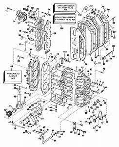 Evinrude 1985 70 - E70elcos  Cylinder  U0026 Crankcase