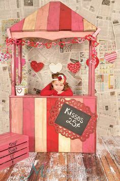 valentines day decor kissing booth wood crates