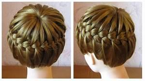Coiffure Tresse Facile Cheveux Mi Long : tuto coiffure tresse serre t te tresse couronne cheveux ~ Melissatoandfro.com Idées de Décoration