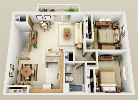 Two Bedroom Apartment Design Plans by Best 25 Apartment Floor Plans Ideas On 2