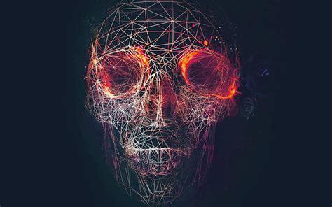 Digital Skull Wallpaper by At03 Digital Skull Abstract Illustration