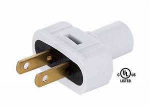 White Lamp Plugs For Round Pvc Cord 48557w