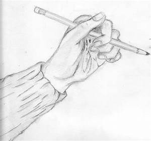 Hand Holding Pencil by FaithInMe101 on deviantART