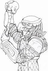 Predator Coloring Pages Mask Drawing Wolf Predators Blade Getdrawings Sketch Template sketch template