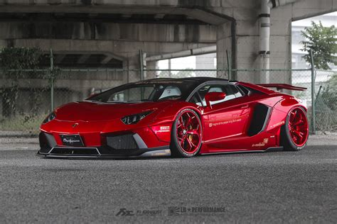 lamborghini aventador sv roadster liberty walk 4 bloody red liberty walk lamborghini aventador roadster front side view sssupersports