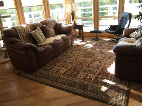 Brown Sofa And Rug In Chocolate Brown Living Room Rug Modern House