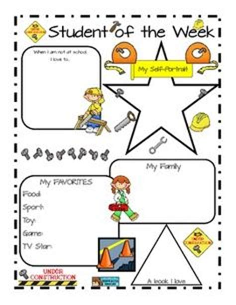 Of The Week Poster Template by 1000 Images About Student Of The Week Ideas On