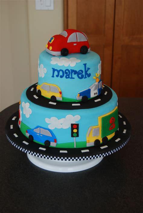 vehicles birthday cake     boy  loves   wheels top car  rkt