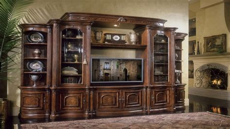 ethan allen dining room sets bookcase media center michael amini villagio collection