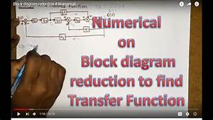 Numerical On Block Diagram Reduction To Find Transfer