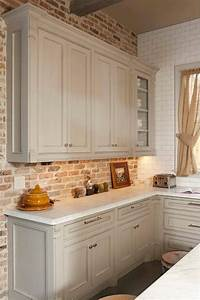 30 super practical and really stylish brick kitchen With kitchen colors with white cabinets with splash wall art
