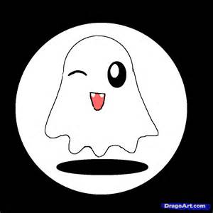 How to Draw Cute Halloween Ghost