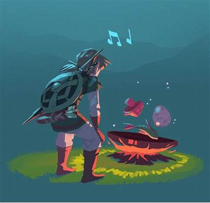Botw Zelda Legend Link Playing Memes Breath