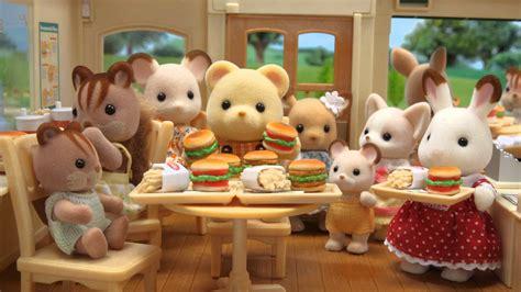 sylvanian families cuisine sylvanian families hamburger restaurant