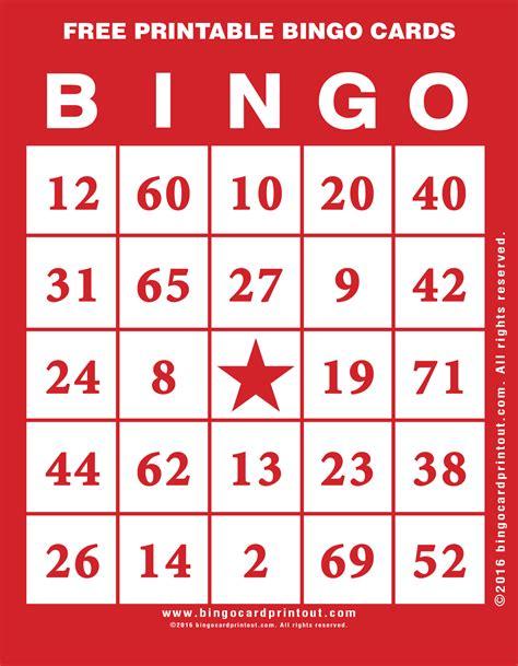 Free Printable Bingo Cards Bingocardprintoutcom