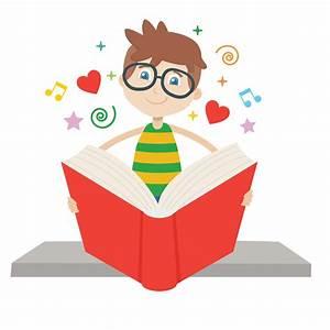 boy reading illustration - Town of Pelham Public Library