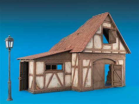 german shed miniart models 35509 german shed
