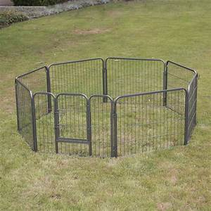 24 dog playpen exercise crate 8 panel fence pet play pen With dog crate fence