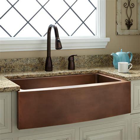kitchen faucet discount 33 quot kiana curved apron copper farmhouse sink kitchen