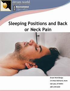 Sleeping positions and back or neck pain for Back neck pain from sleeping