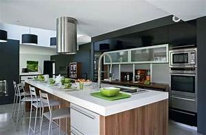 Cuisine moderne ouverte sur salon collection et chambre for Idee deco cuisine avec cuisine americaine