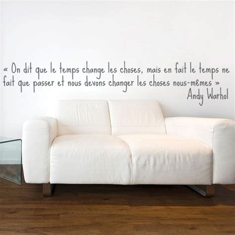 citation pour chambre adulte stickers muraux citations sticker mural le temps