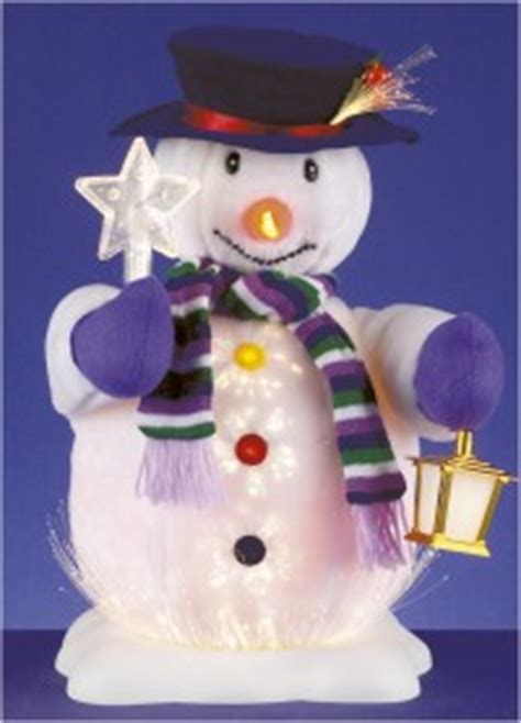 cheap christmas decorations fibre optic christmas snowman
